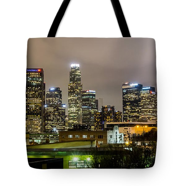 Tote Bag featuring the photograph Los Angeles At Night by April Reppucci