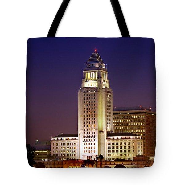 Los Angeles City Hall Building Tote Bag