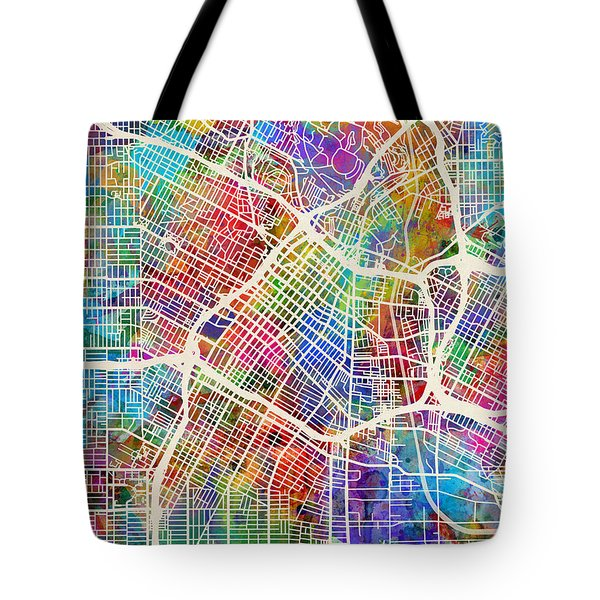 Los Angeles City Street Map Tote Bag