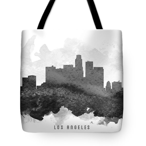 Los Angeles Cityscape 11 Tote Bag by Aged Pixel
