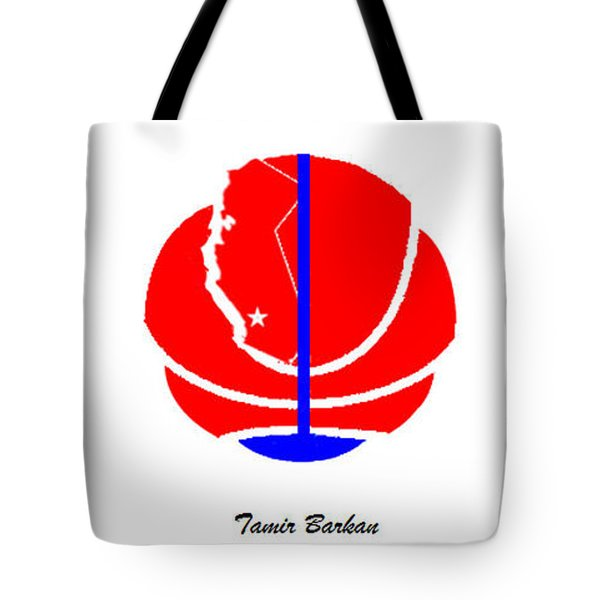 Tote Bag featuring the digital art Los Angeles Clippers Logo Redesign Contest by Tamir Barkan