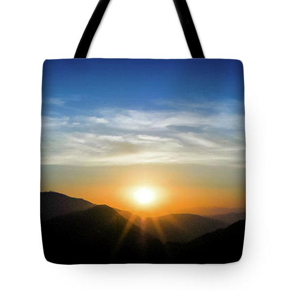 Tote Bag featuring the photograph Los Angeles Desert Mountain Sunset by T Brian Jones