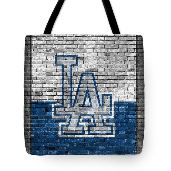 Los Angeles Dodgers Brick Wall Tote Bag
