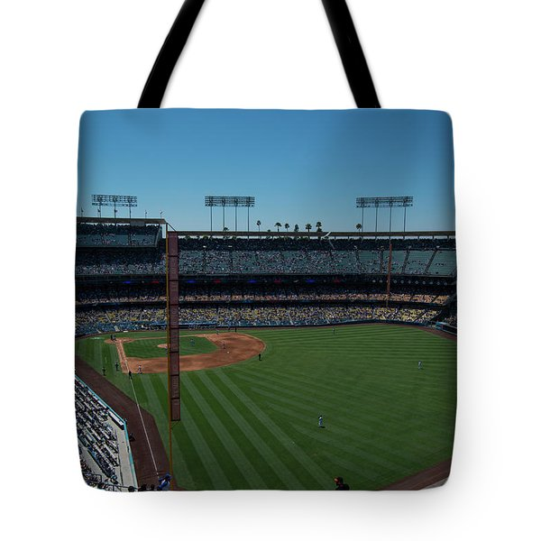 Tote Bag featuring the photograph Los Angeles Dodgers Dodgers Stadium Baseball 2063 by David Haskett