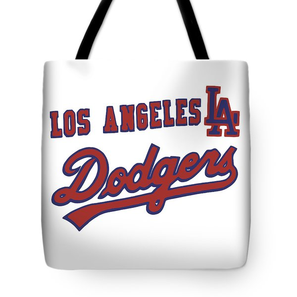 Los Angeles Dodgers Tote Bag by Gina Dsgn