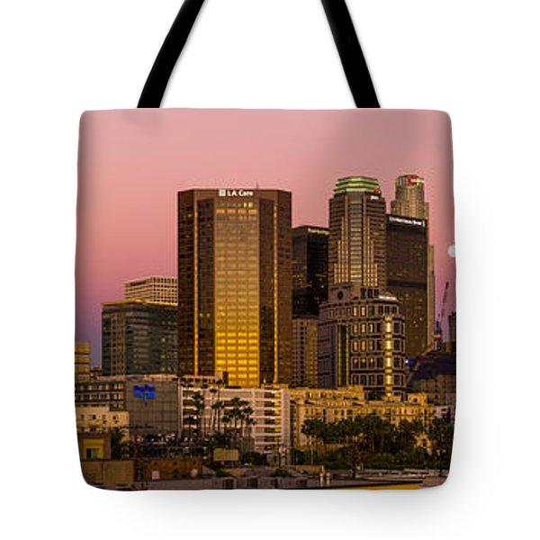 Los Angeles Moonrise 2014 Tote Bag