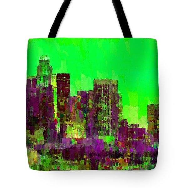 Los Angeles Skyline 105 - Pa Tote Bag