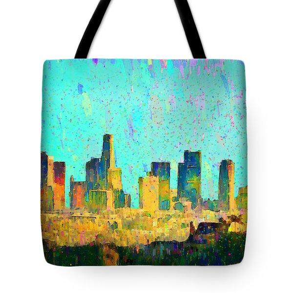 Los Angeles Skyline 7 - Pa Tote Bag