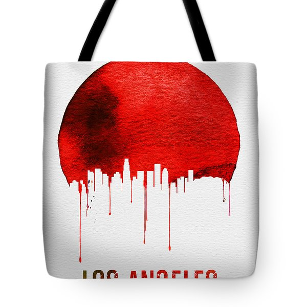 Los Angeles Skyline Red Tote Bag