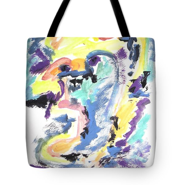 Tote Bag featuring the painting Loss Of Consciousness by Esther Newman-Cohen