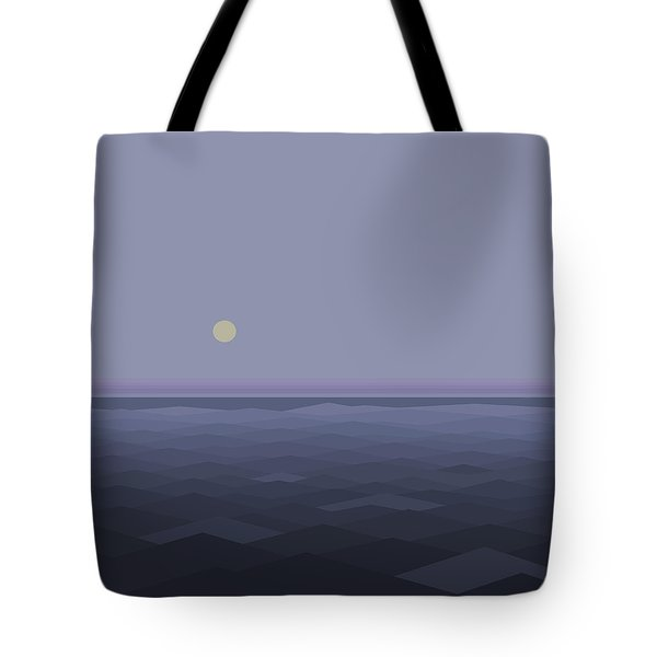 Tote Bag featuring the digital art Lost At Sea - Square by Val Arie