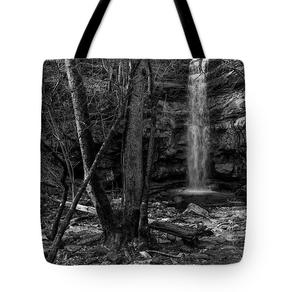 Lost Creek In Black And White Tote Bag