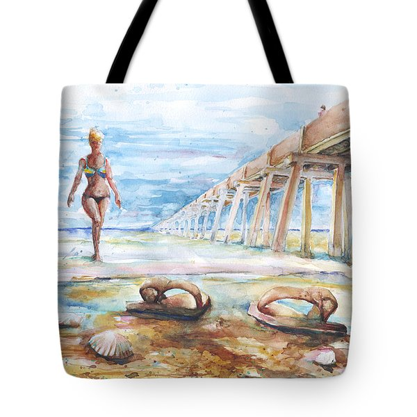 Tote Bag featuring the painting Lost Flops by Arthur Fix