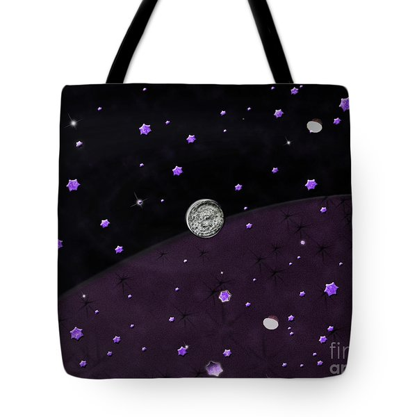 Lost In Midnight Charcoal Stars Tote Bag