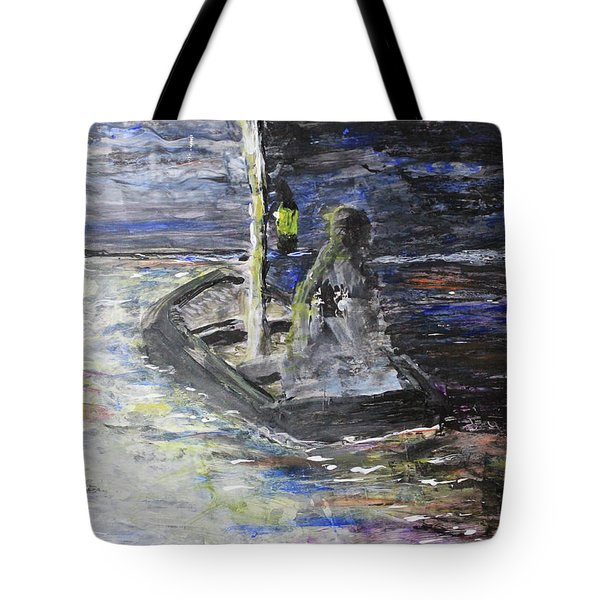 Lost In The Dark Abstract Tote Bag