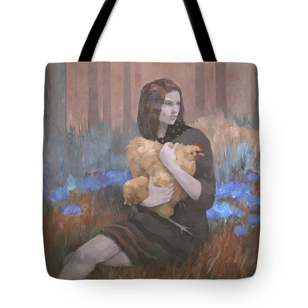 Tote Bag featuring the painting Lost In The Red Wood by Steve Mitchell