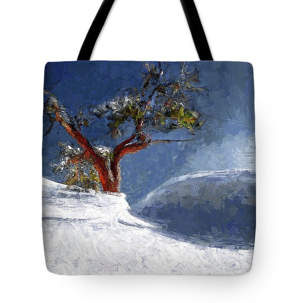 Lost In The Snow Tote Bag by Alex Galkin
