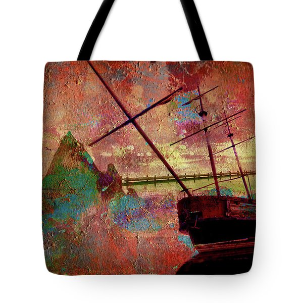 Tote Bag featuring the digital art Lost Island by Greg Sharpe