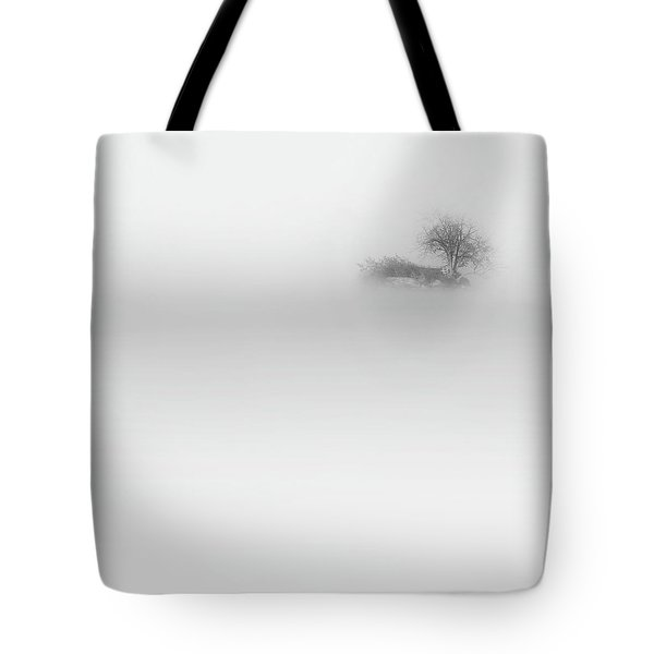 Tote Bag featuring the photograph Lost Island Square by Bill Wakeley