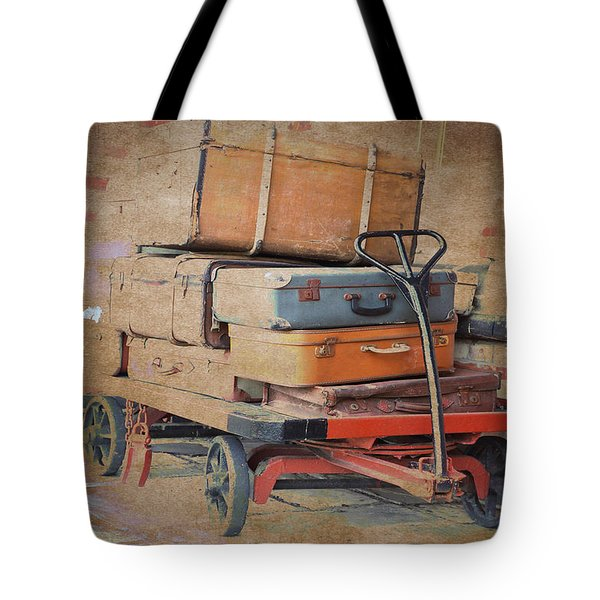 Tote Bag featuring the photograph Lost Luggage by David Birchall