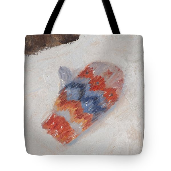 Lost Mitten One Tote Bag by Timothy Chambers