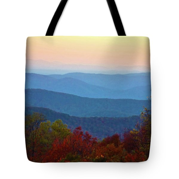 Tote Bag featuring the photograph Lost On The Blueridge by B Wayne Mullins