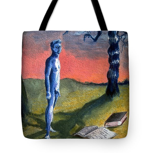 Tote Bag featuring the painting Lost by Rene Capone