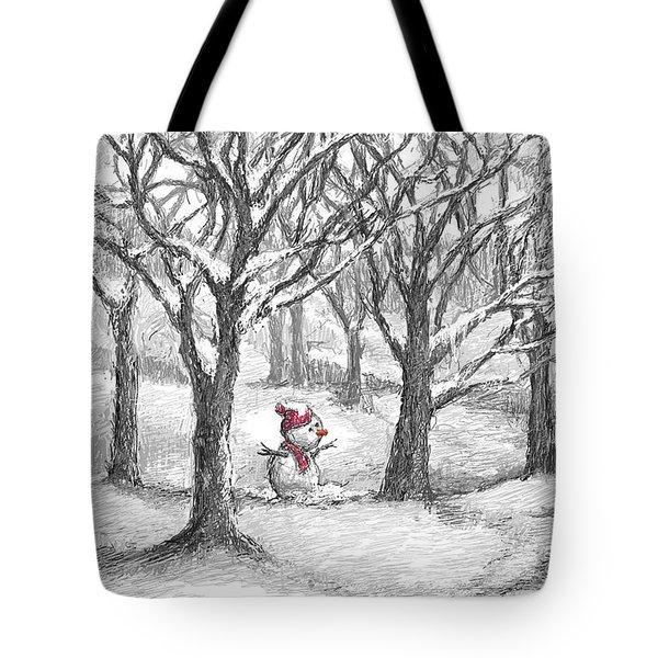 Lost Snowman Tote Bag