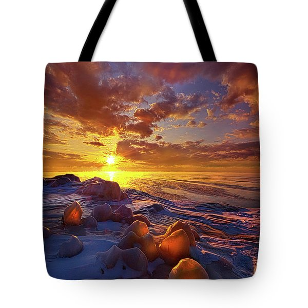 Tote Bag featuring the photograph Lost Titles, Forgotten Rhymes by Phil Koch
