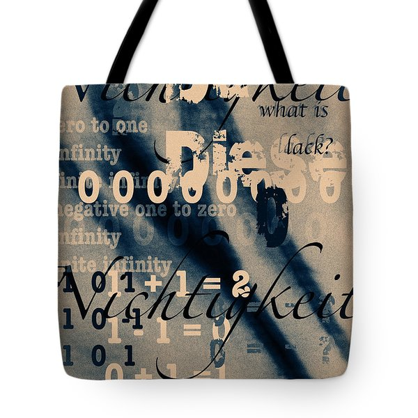 Lost--zero--nothingness Tote Bag