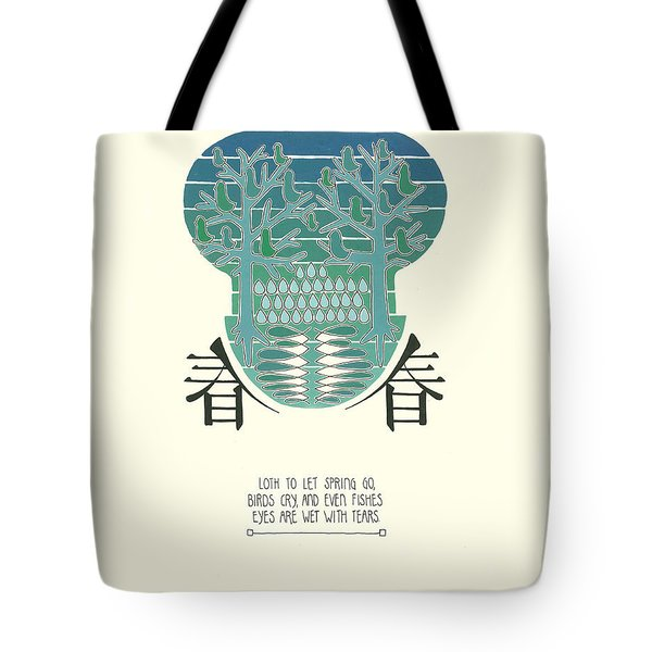 Loth To Let Spring Go Tote Bag