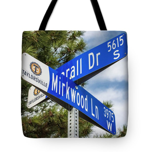 Lotr Mirkwood Street Signs Tote Bag by Gary Whitton