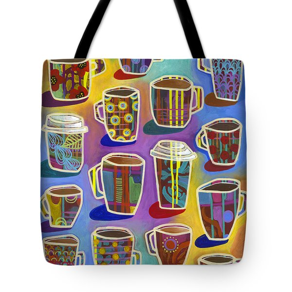 Tote Bag featuring the painting Lots Of Lattes by Carla Bank