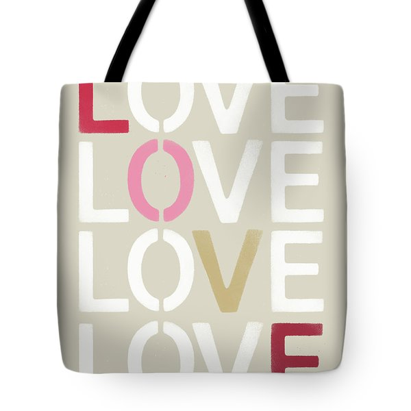 Tote Bag featuring the mixed media Lots Of Love- Art By Linda Woods by Linda Woods