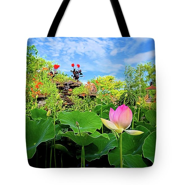 Lotus Alchemy Tote Bag by William Horden