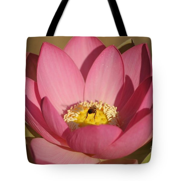 Lotus And Bee Tote Bag