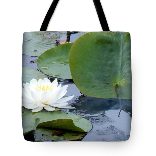 Lily And Leaf Tote Bag