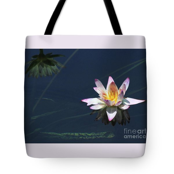 Lotus And Reflection Tote Bag