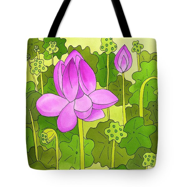 Lotus And Waterlilies Tote Bag