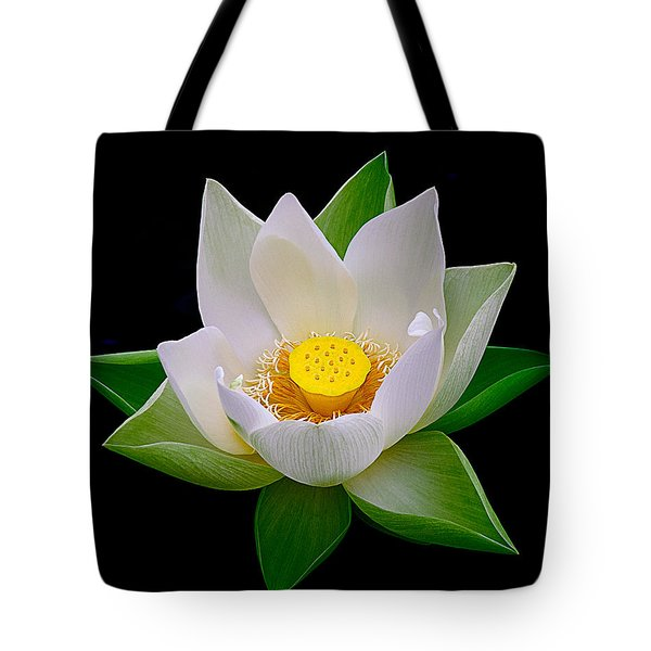 Lotus Blooming Tote Bag by Julie Palencia