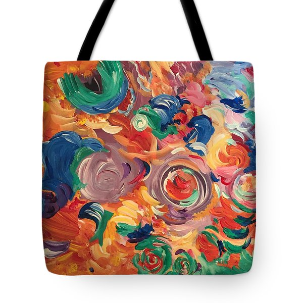 Lotus Blooms Tote Bag