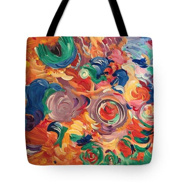 Lotus Blooms Tote Bag