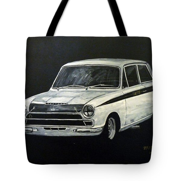 Tote Bag featuring the painting Lotus Cortina by Richard Le Page