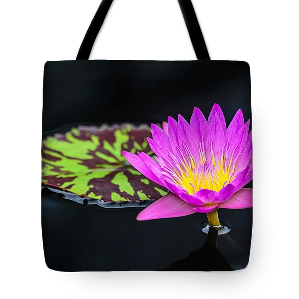 Lotus Flower And Pad Tote Bag