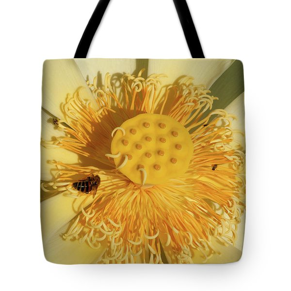 Lotus Flower Tote Bag by Carolyn Dalessandro