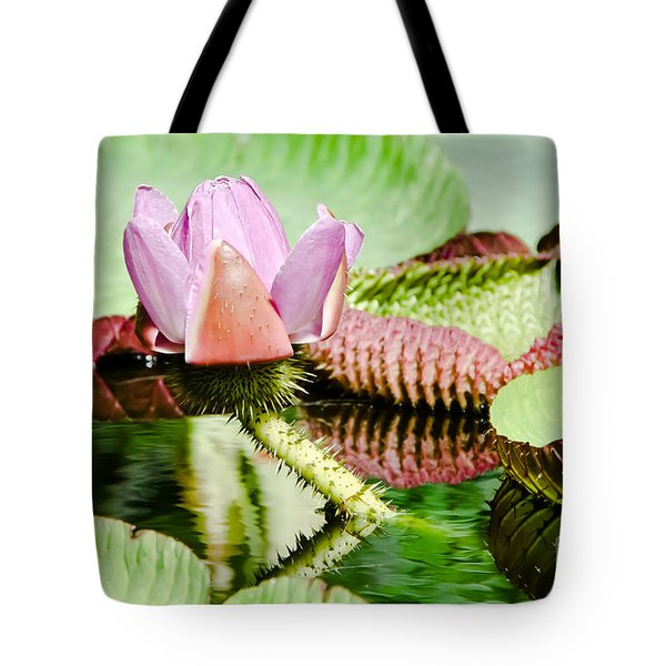 Lotus Flower In Water Tote Bag
