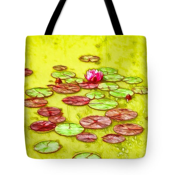 Lotus Flower On The Water 2 Tote Bag by Lanjee Chee