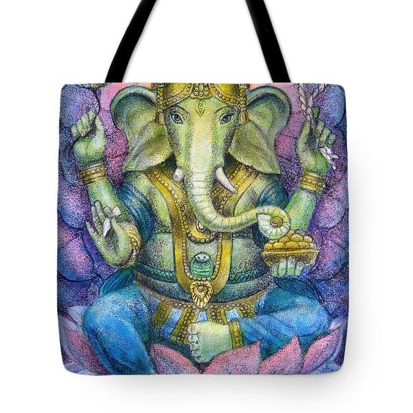 Lotus Ganesha Tote Bag by Sue Halstenberg