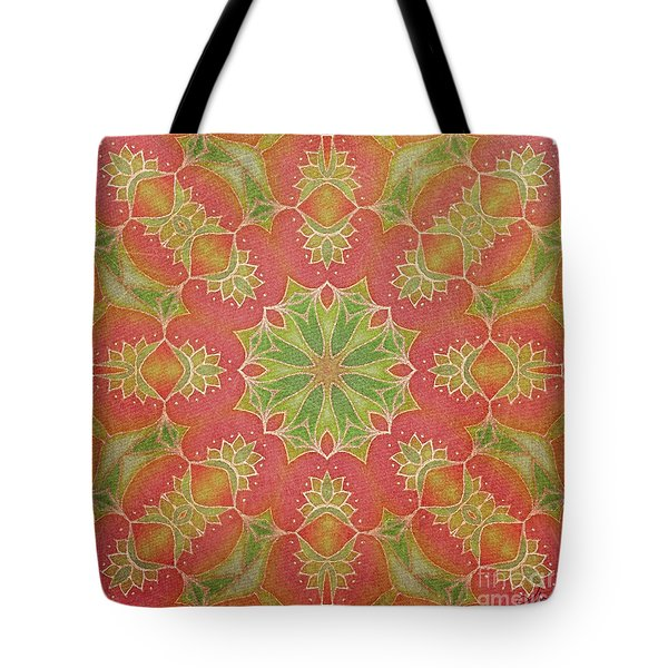 Tote Bag featuring the drawing Lotus Garden by Mo T