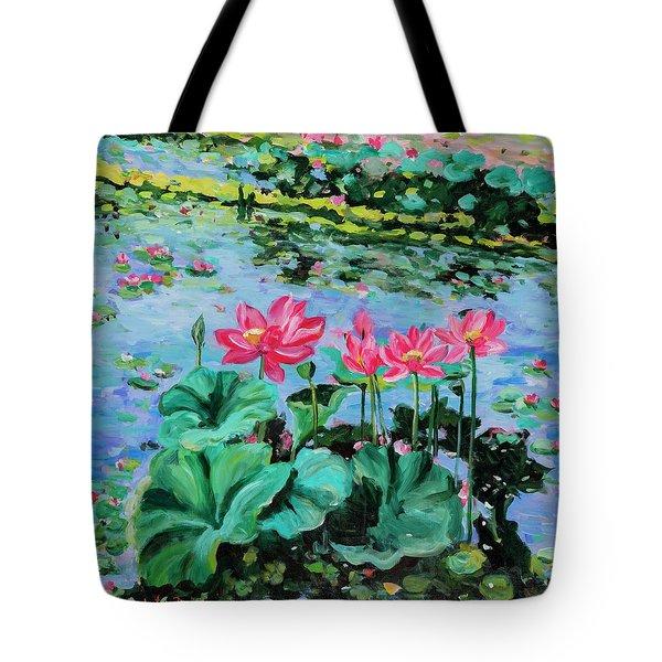Lotus Tote Bag by Alexandra Maria Ethlyn Cheshire